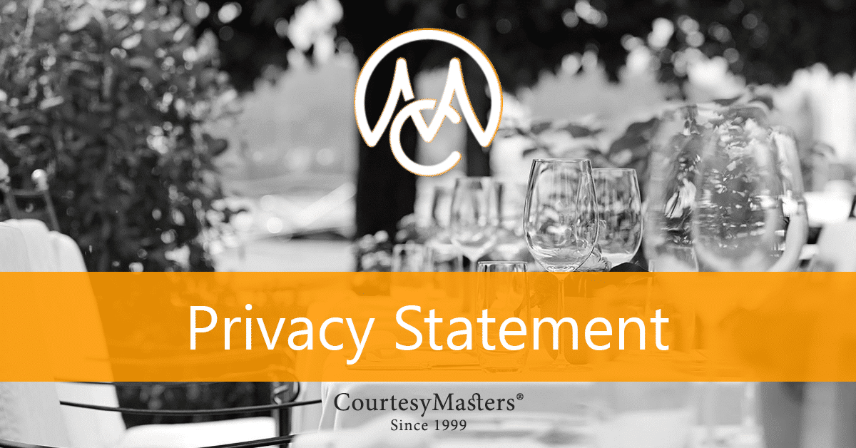 CourtesyMasters privacy statement