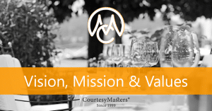 CourtesyMasters vision, mission & values