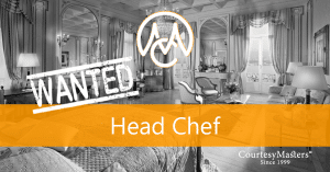 Job Head Chef via CourtesyMasters