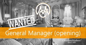 Job General Manager hotel opening via CourtesyMasters