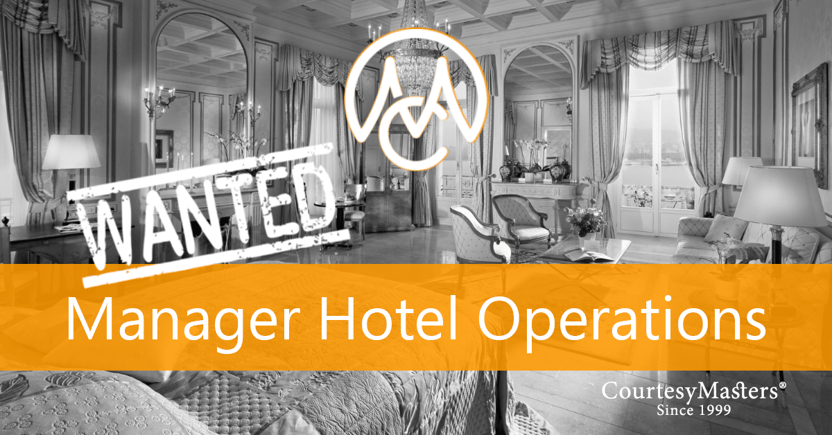 Job Manager Hotel Operations via CourtesyMasters