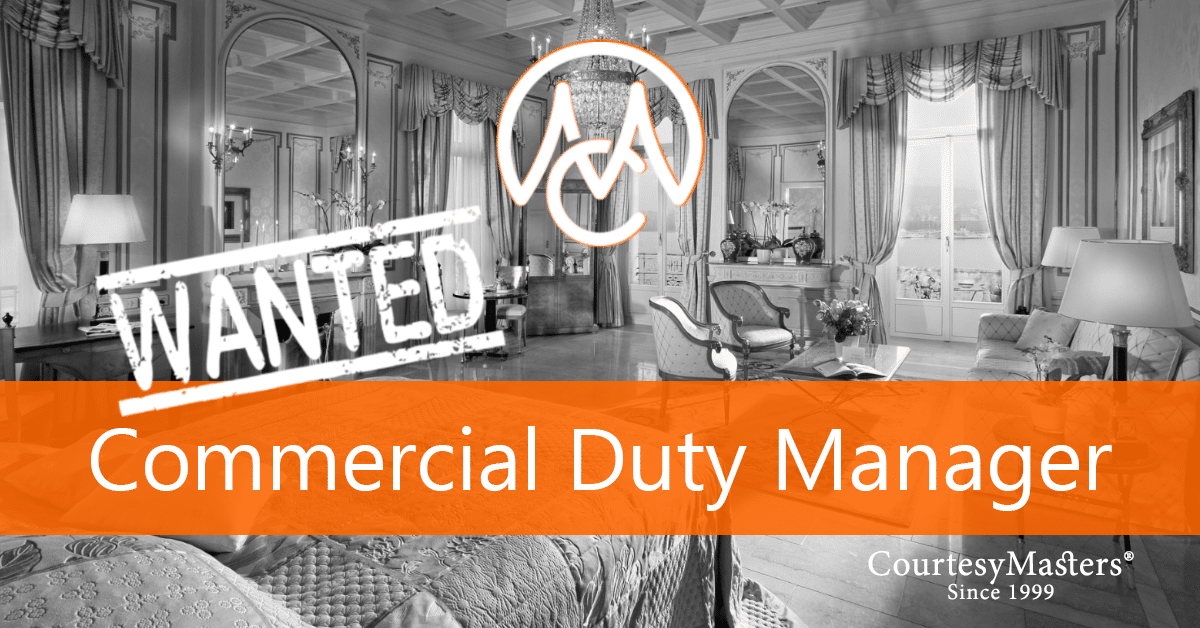 Job vacancy Commercial (Duty) Manager via CourtesyMasters hospitality recruitment