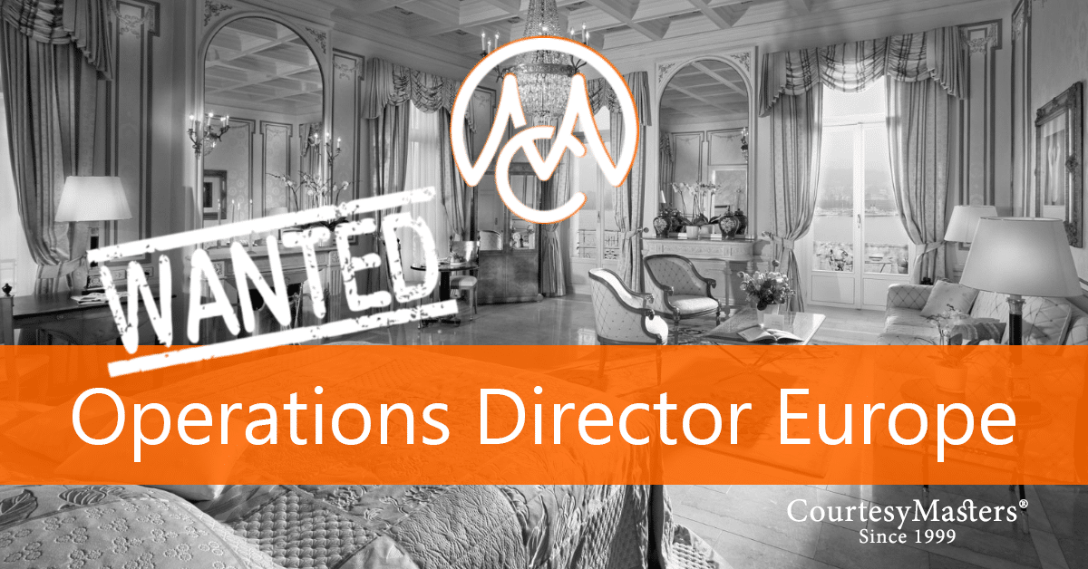 Job vacancy Operations Director Europe via CourtesyMasters