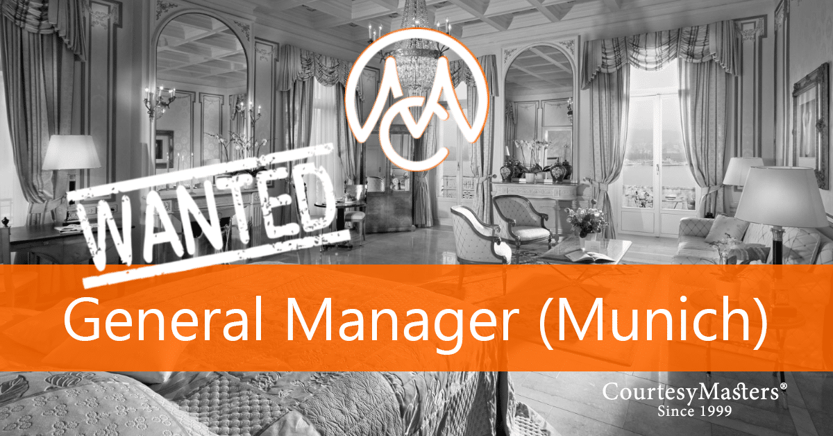 Job vacancy General Manager hotel Munich via CourtesyMasters