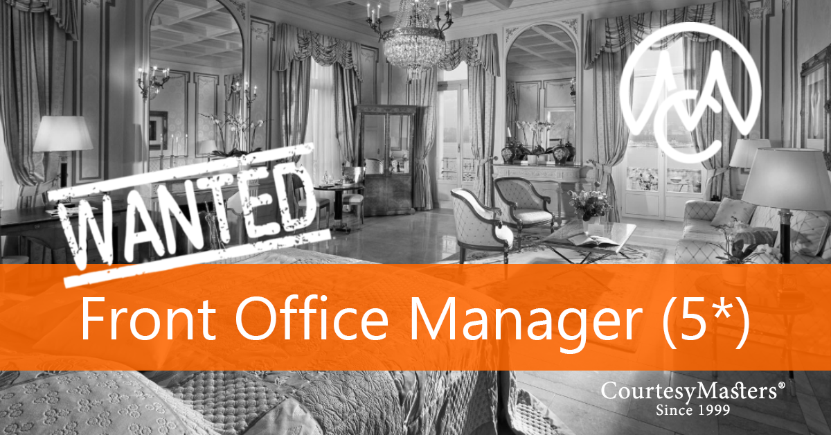 Job vacancy Front Office Manager via CourtesyMasters
